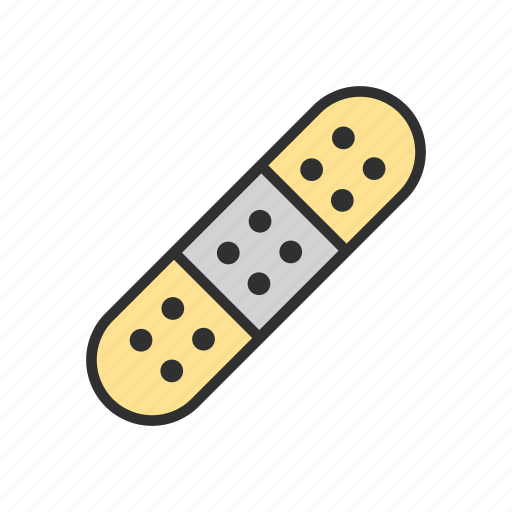 bandaid, first aid, firstaid, healing brush tool icon