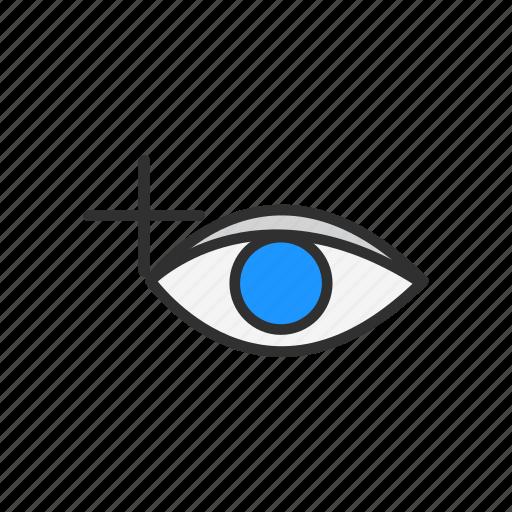 eye, photoshop, red eye tool, tool icon