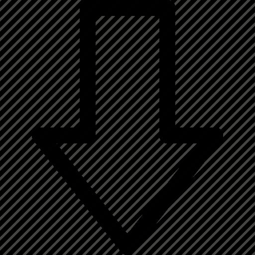 action, arrow, dowload, down icon