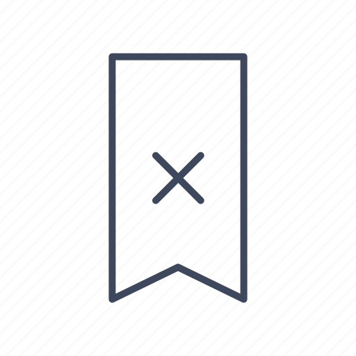 bookmark, delete, favorite, ribbon, vertical icon