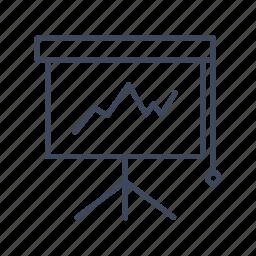 blackboard, desk icon