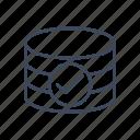 check mark, database, database accepted icon