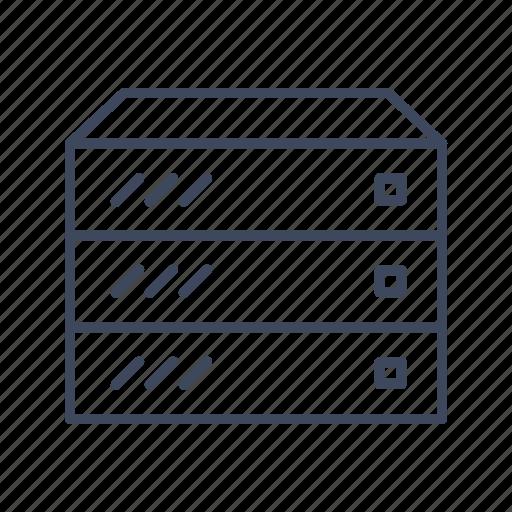 center, data, database, hosting, rack, server, store icon