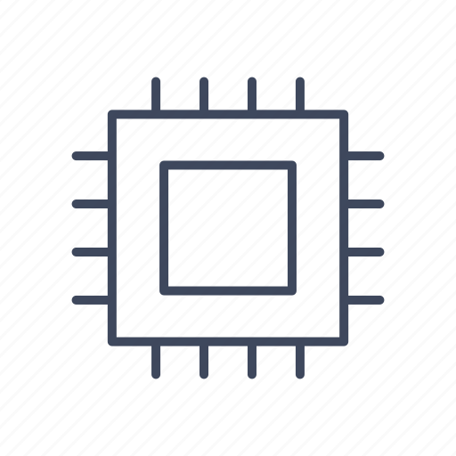 chip, cpu, microchip, processor icon