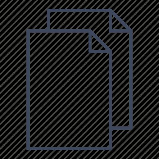 document, duplicate, file, paste icon