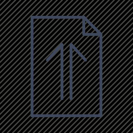 document, file, up, upload icon