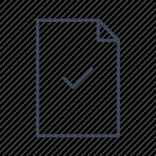 accept, approve, check, document, file, mark icon