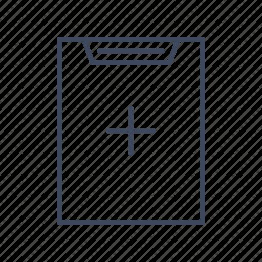 add to list, addition, clipboard, hardboard, list icon