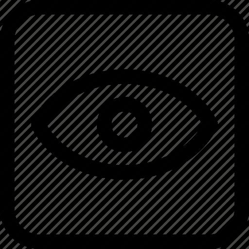 eye, interfaces, view icon