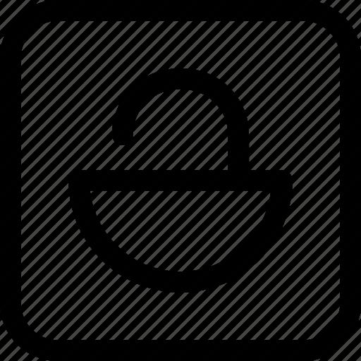 interfaces, lock, open icon