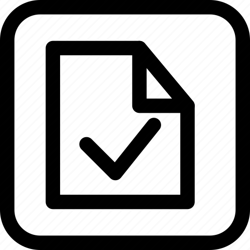 approve, document, file, interfaces, success icon