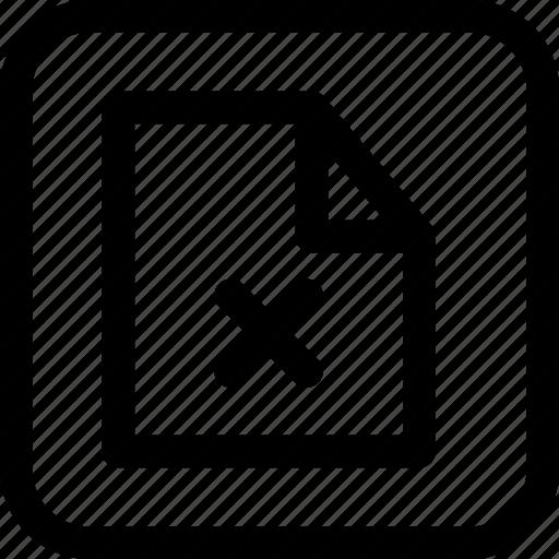 cancel, document, drop, file, interfaces, line icon