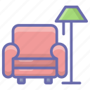 armchair, couch, furniture, lounge, sofa icon