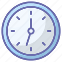 chronometer, clock, hour, time, timekeeper, timepiece, wall clock icon