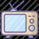 broadcast, retro screen, retro television, retro tv, television, tv, vintage tv icon