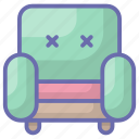 armchair, couch, furniture, sofa, sofa settee icon