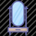 bedroom dressing, dresser, dressing table, dressing vanity, room furniture icon
