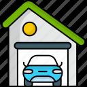 garage, carport, service, vehicle, home, warehouse