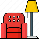 living, room, lamp, sofa, couch, lobby, furniture