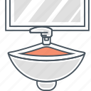 bath, handwash, sink, tap, water icon