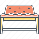 armchair, bench, furniture, seat, sofa icon