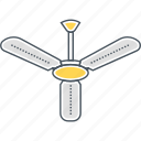 ceiling, fan, wind icon