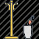 coat, hanger, pot, stand, umbrella icon