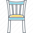 chair, dining, furniture, seat icon
