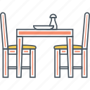 chair, dining, dinner, furniture, table icon
