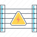 danger, electric, electrocute, fence icon