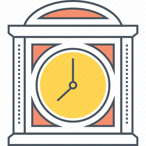 clock, hour, time, vintage icon