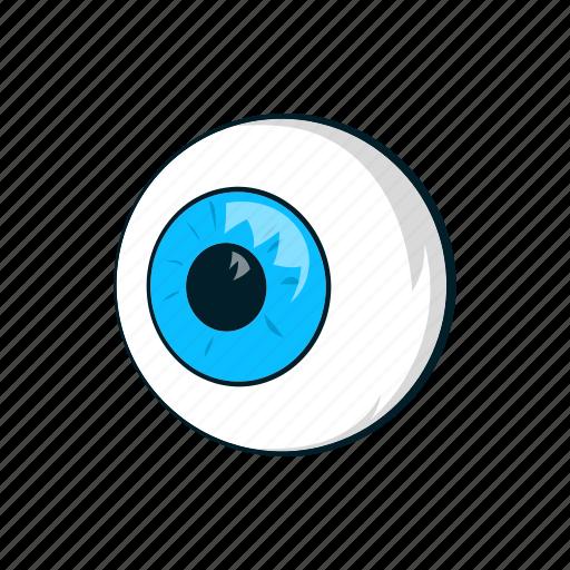 cartoon, eyeball, eyes, human, look, see, sign icon