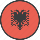 albania, albanian, country, european, flag icon