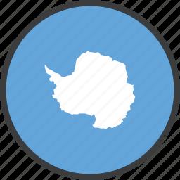 antarctic, antarctica, continent, country, flag, treaty icon