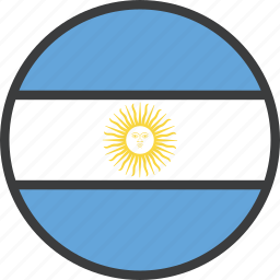 argentina, argentinian, country, flag icon