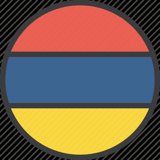 armenia, armenian, country, european, flag icon