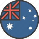 aussie, australia, country, flag icon