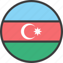 asian, azerbaijan, country, flag