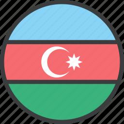 asian, azerbaijan, country, flag icon