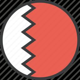 asian, bahrain, bahraini, country, flag icon