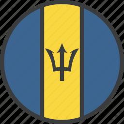 barbados, country, flag icon