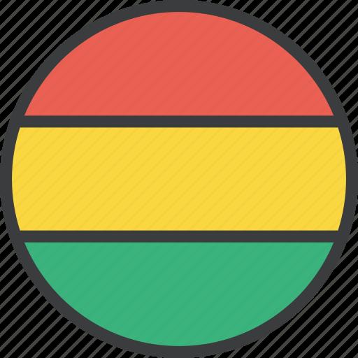 bolivia, bolivian, country, flag icon