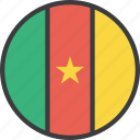 african, cameroon, cameroonian, country, flag icon