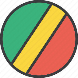 african, congo, country, flag icon