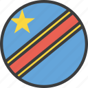african, congo, country, democratic, flag icon