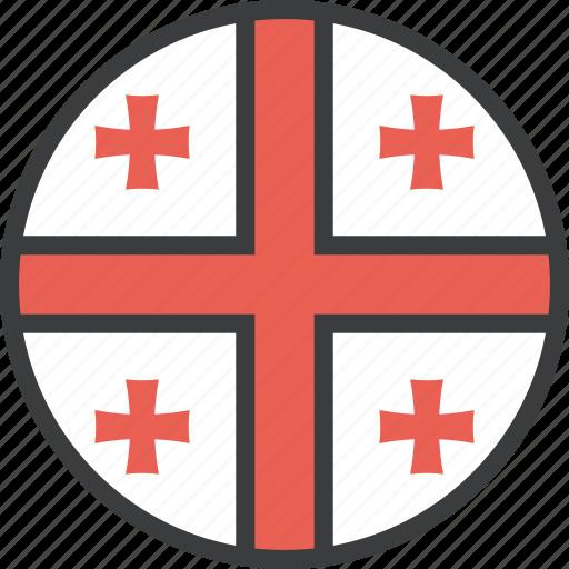 country, european, flag, georgia, georgian icon