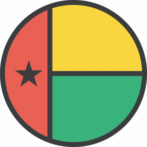 african, bissau, country, flag, guinea icon