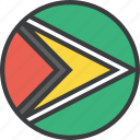 country, flag, guyana, guyanese icon