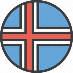 country, european, flag, iceland, icelandic icon