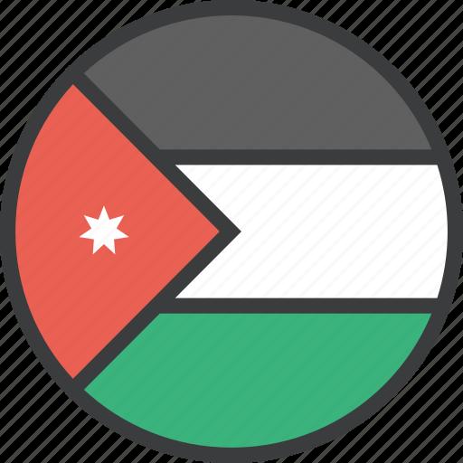 asian, country, flag, jordan icon
